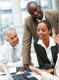 Business people discussing in a meeting - International Accounting Firm
