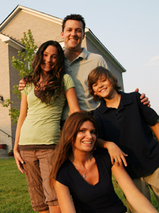 Determining Residence - Image of a happy family